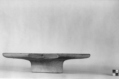 <em>Offering Table</em>, ca. 3100-2675 B.C.E. Limestone, 2 5/8 x Diam. 11 11/16 in. (6.6 x 29.7 cm). Brooklyn Museum, Charles Edwin Wilbour Fund, 07.447.8. Creative Commons-BY (Photo: Brooklyn Museum, CUR.07.447.8_NegA_print_bw.jpg)