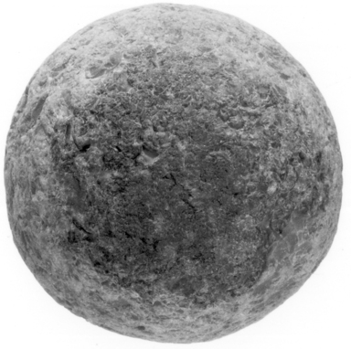 <em>Pounding Stone</em>, ca. 4400-2675 B.C.E. Chert, Measurements: Greatest diameters: 6.4 cm, 6.6 cm., 6.8 cm., 5.8 cm., 6.4 cm., 6 cm. Brooklyn Museum, Charles Edwin Wilbour Fund, 07.447.961. Creative Commons-BY (Photo: , CUR.07.447.961_NegID_07.447.1025GRPA_print_cropped_bw.jpg)