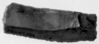 <em>Sickle Blade</em>, ca. 4400-2170 B.C.E. Brownish chert, 7/8 x Length 2 11/16 in. (2.3 x 6.9 cm). Brooklyn Museum, Charles Edwin Wilbour Fund, 07.447.976. Creative Commons-BY (Photo: , CUR.07.447.976_Neg07.447.966GRPA_print_cropped_bw.jpg)