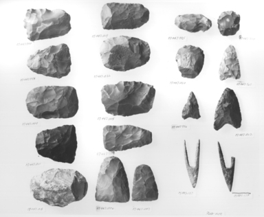 <em>Flat Plane of Stone</em>, ca. 4400-3100 B.C.E. Gray-brown chert, 2 5/16 x 5/8 x 3 1/16 in. (5.8 x 1.6 x 7.7 cm). Brooklyn Museum, Charles Edwin Wilbour Fund, 07.447.1006. Creative Commons-BY (Photo: , CUR.07.447.990_.998_.1009_.1011_.1018-.1020_.1012_.1022_.1006-.1008_.989_.995_.996_.994_.969_09.889.127-.128_NegID_07.447.989GRPA_print_bw.jpg)