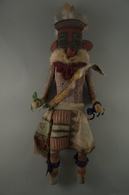 She-we-na (Zuni Pueblo). <em>Kachina Doll (Metotashla)</em>, late 19th century. Wood, feather, cotton, pigment, 17 11/16 x 5 1/8 x 4 5/16in. (45 x 13 x 11cm). Brooklyn Museum, Museum Expedition 1907, Museum Collection Fund, 07.467.8442. Creative Commons-BY (Photo: Brooklyn Museum, CUR.07.467.8442_front.jpg)
