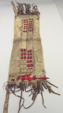 She-we-na (Zuni Pueblo). <em>Saddle Bag</em>. Hide, cloth, 39 3/8 x 13 3/4in. (100 x 35cm). Brooklyn Museum, Museum Expedition 1907, Museum Collection Fund, 07.467.8458.2. Creative Commons-BY (Photo: Brooklyn Museum, CUR.07.467.8458.2_view1.jpg)