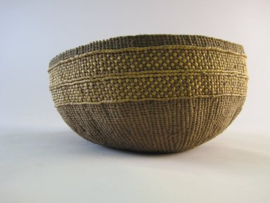 Hupa. <em>Basket</em>. Fiber, 4 3/16 x 8 3/16 x 8 3/16 in. (10.6 x 20.8 x 20.8 cm). Brooklyn Museum, By exchange, 07.468.9327. Creative Commons-BY (Photo: Brooklyn Museum, CUR.07.468.9327.jpg)