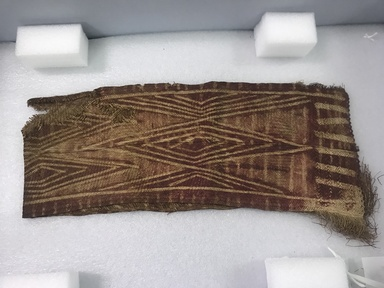 ni-Vanuatu. <em>Mat</em>, late 19th century. Fiber, 41 1/2 x 8 in. (105.4 x 20.3 cm). Brooklyn Museum, By exchange, 07.468.9409. Creative Commons-BY (Photo: , CUR.07.468.9409_view01.jpg)
