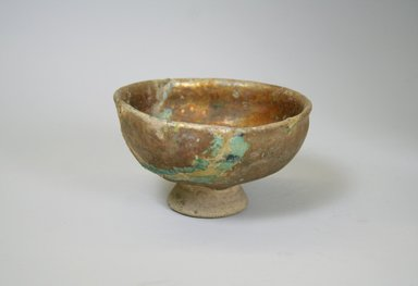 Mesopotamian. <em>Small Bowl</em>, 13th century. Ceramic, fritware, 2 15/16 x 4 3/4 in. (7.5 x 12 cm). Brooklyn Museum, Museum Collection Fund, 08.35. Creative Commons-BY (Photo: Brooklyn Museum, CUR.08.35_exterior.jpg)