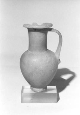 <em>Jar with High Cylindrical Neck</em>, ca. 1426-1353 B.C.E. Egyptian alabaster, 5 7/8 x Diam. of rim 2 1/2 in. (15 x 6.3 cm). Brooklyn Museum, Charles Edwin Wilbour Fund, 08.480.19. Creative Commons-BY (Photo: Brooklyn Museum, CUR.08.480.19_NegL1013_10_print_bw.jpg)