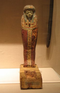 <em>Osiris Figurine</em>, after 305 B.C.E. Wood, pigment, 15 x 3 1/2 x 9 in. (38.1 x 8.9 x 22.9 cm). Brooklyn Museum, Charles Edwin Wilbour Fund, 08.480.203. Creative Commons-BY (Photo: Brooklyn Museum, CUR.08.480.203_wwgA-2.jpg)