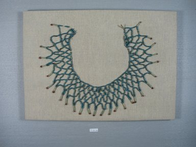 <em>Necklace</em>, 664-343 B.C.E. Faience, 9 1/16 x 1/16 x 11 1/4 in. (23 x 0.2 x 28.5 cm). Brooklyn Museum, Charles Edwin Wilbour Fund, 08.480.232. Creative Commons-BY (Photo: Brooklyn Museum, CUR.08.480.232_view1.jpg)