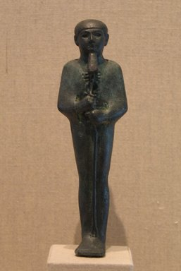 <em>Standing Mummiform Statuette of Ptah</em>, ca. 1070-653 B.C.E. Bronze, 5 13/16 x 1 3/4 in. (14.8 x 4.5 cm). Brooklyn Museum, Charles Edwin Wilbour Fund, 08.480.25. Creative Commons-BY (Photo: Brooklyn Museum, CUR.08.480.25_wwgA-1.jpg)