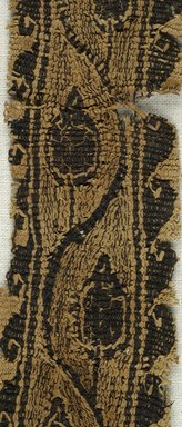 Coptic. <em>Band Fragment with Botanical Decoration</em>, 4th-5th century C.E. Flax, wool, 7 x 1 1/2 in. (17.8 x 3.8 cm). Brooklyn Museum, Charles Edwin Wilbour Fund, 08.480.57. Creative Commons-BY (Photo: Brooklyn Museum (in collaboration with Index of Christian Art, Princeton University), CUR.08.480.57_detail01_ICA.jpg)