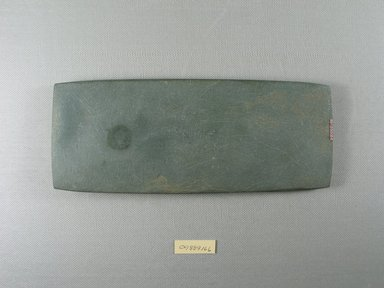 <em>Long Rectangular Palette</em>, ca. 4400-3100 B.C.E. Stone, 3 7/16 x 1/2 x 8 9/16 in. (8.8 x 1.2 x 21.7 cm). Brooklyn Museum, Charles Edwin Wilbour Fund, 09.889.166. Creative Commons-BY (Photo: Brooklyn Museum, CUR.09.889.166_view2.jpg)