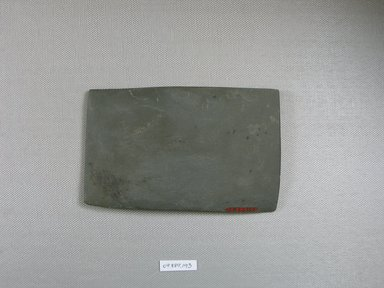 <em>Rectangular Palette</em>, ca. 4400-3100 B.C.E. Slate, 3 1/4 x 5/16 x 5 3/16 in. (8.3 x 0.8 x 13.1 cm). Brooklyn Museum, Charles Edwin Wilbour Fund, 09.889.193. Creative Commons-BY (Photo: Brooklyn Museum, CUR.09.889.193_view2.jpg)