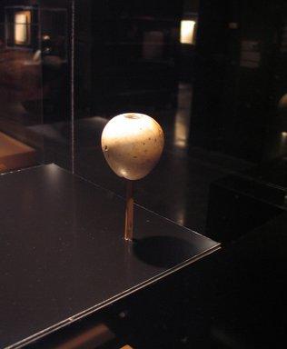 <em>Egg-Shaped Mace Head</em>, ca. 3500-3300 B.C. Egyptian alabaster (calcite), 2 1/16 diameter x 2 1/8 in. (5.2 x 5.4 cm). Brooklyn Museum, Charles Edwin Wilbour Fund, 09.889.198. Creative Commons-BY (Photo: Brooklyn Museum, CUR.09.889.198_tlf.jpg)