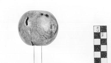 <em>Spheric Mace</em>, ca. 3500-3100 B.C.E. Quartz (possibly), 2 1/8 × Diam. 2 1/2 in. (5.4 × 6.3 cm). Brooklyn Museum, Charles Edwin Wilbour Fund, 09.889.199. Creative Commons-BY (Photo: Brooklyn Museum, CUR.09.889.199_NegA_print_bw.jpg)