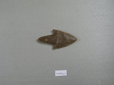 <em>Arrowhead</em>. Chert, 1 3/8 x 1/4 x 2 13/16 in. (3.5 x 0.7 x 7.2 cm). Brooklyn Museum, Charles Edwin Wilbour Fund, 09.889.217. Creative Commons-BY (Photo: Brooklyn Museum, CUR.09.889.217_overall.jpg)