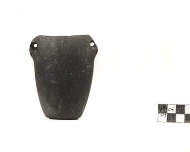 <em>Standing Vase</em>, ca. 3500-3300 B.C.E. Basalt, 3 11/16 x Diam. 1 13/16 in. (9.3 x 4.6 cm). Brooklyn Museum, Charles Edwin Wilbour Fund, 09.889.23. Creative Commons-BY (Photo: Brooklyn Museum, CUR.09.889.23_NegB_print_bw.jpg)