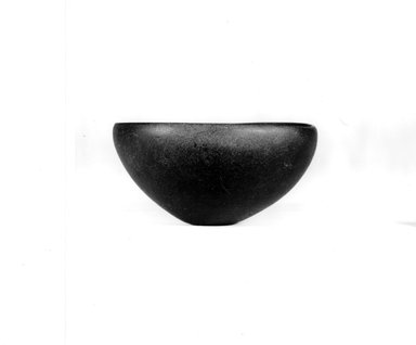 <em>Hemispherical Cup</em>, ca. 3100-2625 B.C.E. Basalt, 2 1/16 x Diam. 4 1/8 in. (5.2 x 10.4 cm). Brooklyn Museum, Charles Edwin Wilbour Fund, 09.889.26. Creative Commons-BY (Photo: Brooklyn Museum, CUR.09.889.26_NegA_print_bw.jpg)