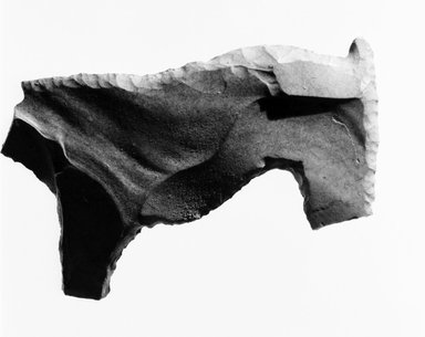 <em>Figure of a Quadruped, Probably a Dog</em>. Flint, 1 1/8 x 1 7/8 in. (2.9 x 4.7 cm). Brooklyn Museum, Charles Edwin Wilbour Fund, 09.889.291. Creative Commons-BY (Photo: Brooklyn Museum, CUR.09.889.291_negA_bw.jpg)