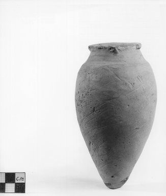 <em>Pointed Shape Vase</em>. Clay Brooklyn Museum, Charles Edwin Wilbour Fund, 09.889.437. Creative Commons-BY (Photo: Brooklyn Museum, CUR.09.889.437_NegA_print_bw.jpg)