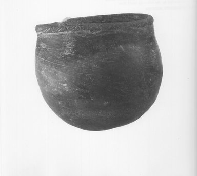 <em>Hemispheric Cup</em>. Terracotta, Height: 3 1/2 in. (8.9 cm). Brooklyn Museum, Charles Edwin Wilbour Fund, 09.889.450. Creative Commons-BY (Photo: Brooklyn Museum, CUR.09.889.450_NegA_print_bw.jpg)