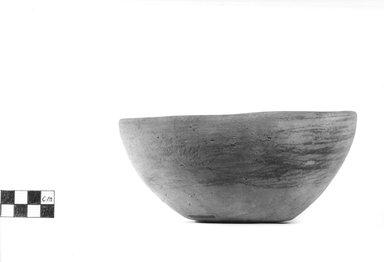 <em>Small Deep Bowl</em>. Terracotta, Diameter 6 3/4 in. (17.1 cm) to 6 1/2 in. (16.5 cm). Brooklyn Museum, Charles Edwin Wilbour Fund, 09.889.493. Creative Commons-BY (Photo: Brooklyn Museum, CUR.09.889.493_NegA_print_bw.jpg)