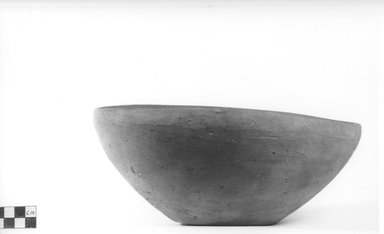 <em>Deep Bowl</em>. Terracotta, Diameter 9 3/4 in. (24.8 cm). Brooklyn Museum, Charles Edwin Wilbour Fund, 09.889.501. Creative Commons-BY (Photo: Brooklyn Museum, CUR.09.889.501_NegA_print_bw.jpg)