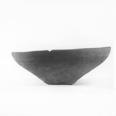 <em>Small Cup</em>, ca. 4400-3100 B.C.E. Terracotta, Diameter 8 1/2 in. (21.6 cm) to 8 3/4 in. (22.2 cm). Brooklyn Museum, Charles Edwin Wilbour Fund, 09.889.505. Creative Commons-BY (Photo: Brooklyn Museum, CUR.09.889.505_NegA_print_bw.jpg)