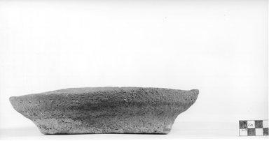 <em>Flat Dish</em>. Terracotta, Diameter 9 1/2 in. (24.1 cm) to 9 7/8 in. (25.1 cm). Brooklyn Museum, Charles Edwin Wilbour Fund, 09.889.508. Creative Commons-BY (Photo: Brooklyn Museum, CUR.09.889.508_NegA_print_bw.jpg)