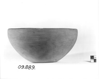<em>Bowl</em>, ca. 3300-3100 B.C.E. Terracotta, 4 1/16 x Diam. 8 1/2 in. (10.3 x 21.6 cm). Brooklyn Museum, Charles Edwin Wilbour Fund, 09.889.518. Creative Commons-BY (Photo: Brooklyn Museum, CUR.09.889.518_NegA_print_bw.jpg)