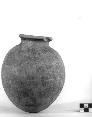 <em>Globular - Ovoid Shaped Vase</em>. Clay, slip, Height: 6 15/16 in. (17.7 cm). Brooklyn Museum, Charles Edwin Wilbour Fund, 09.889.598. Creative Commons-BY (Photo: Brooklyn Museum, CUR.09.889.598_NegA_print_bw.jpg)