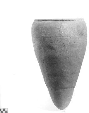 <em>Ovoid Vase</em>, ca. 4400-3100 B.C.E. Clay, Height: 15 3/4 in. (40 cm). Brooklyn Museum, Charles Edwin Wilbour Fund, 09.889.619. Creative Commons-BY (Photo: Brooklyn Museum, CUR.09.889.619_NegA_print_bw.jpg)