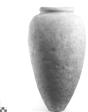 <em>Ovoid Shaped Storage Pot</em>. Clay, Height: 15 3/4 in. (40 cm). Brooklyn Museum, Charles Edwin Wilbour Fund, 09.889.625. Creative Commons-BY (Photo: Brooklyn Museum, CUR.09.889.625_NegA_print_bw.jpg)
