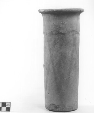 <em>Cylindrical Vase</em>, ca. 4400-3100 B.C.E. Terracotta, Height: 9 1/16 in. (23 cm). Brooklyn Museum, Charles Edwin Wilbour Fund, 09.889.666. Creative Commons-BY (Photo: Brooklyn Museum, CUR.09.889.666_NegA_print_bw.jpg)