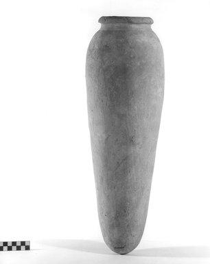 <em>Storage Pot</em>. Terracotta, Height: 20 13/16 in. (52.8 cm). Brooklyn Museum, Charles Edwin Wilbour Fund, 09.889.737. Creative Commons-BY (Photo: Brooklyn Museum, CUR.09.889.737_NegA_print_bw.jpg)