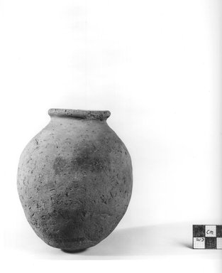 <em>Globular Vase</em>. Terracotta, Height: 4 5/8 in. (11.8 cm). Brooklyn Museum, Charles Edwin Wilbour Fund, 09.889.760. Creative Commons-BY (Photo: Brooklyn Museum, CUR.09.889.760_NegA_print_bw.jpg)