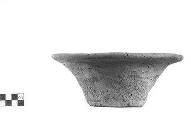 <em>Deep Bowl</em>. Terracotta, Height: 3 3/16 in. (8.1 cm). Brooklyn Museum, Charles Edwin Wilbour Fund, 09.889.767. Creative Commons-BY (Photo: Brooklyn Museum, CUR.09.889.767_NegA_print_bw.jpg)