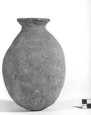 <em>Globular Bottle</em>, ca. 3800-3500 B.C.E. Clay, Height: 7 15/16 in. (20.1 cm). Brooklyn Museum, Charles Edwin Wilbour Fund, 09.889.769. Creative Commons-BY (Photo: Brooklyn Museum, CUR.09.889.769_NegA_print_bw.jpg)