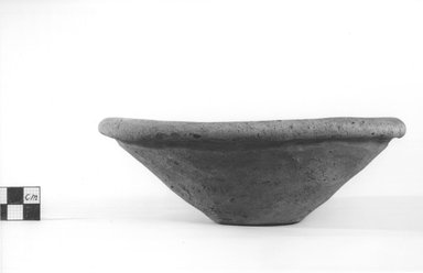 <em>Deep Dish</em>, ca. 3800-3500 B.C.E. Clay, Height: 2 1/2 in. (6.3 cm). Brooklyn Museum, Charles Edwin Wilbour Fund, 09.889.777. Creative Commons-BY (Photo: Brooklyn Museum, CUR.09.889.777_NegA_print_bw.jpg)
