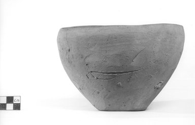 <em>Deep Bowl</em>. Terracotta, Height: 4 3/4 in. (12.1 cm). Brooklyn Museum, Charles Edwin Wilbour Fund, 09.889.791. Creative Commons-BY (Photo: Brooklyn Museum, CUR.09.889.791_NegA_print_bw.jpg)