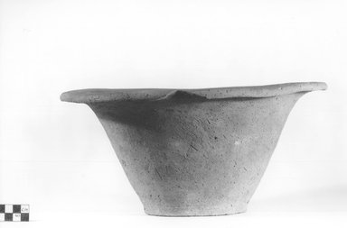 <em>Deep Bowl</em>. Terracotta, Height: 6 in. (15.3 cm). Brooklyn Museum, Charles Edwin Wilbour Fund, 09.889.792. Creative Commons-BY (Photo: Brooklyn Museum, CUR.09.889.792_NegA_print_bw.jpg)