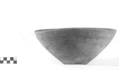 <em>Deep Bowl</em>. Terracotta, Height: 4 1/4 in. (10.8 cm). Brooklyn Museum, Charles Edwin Wilbour Fund, 09.889.793. Creative Commons-BY (Photo: Brooklyn Museum, CUR.09.889.793_NegA_print_bw.jpg)