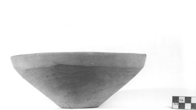 <em>Deep Bowl</em>. Terracotta, Height: 3 1/2 in. (8.9 cm). Brooklyn Museum, Charles Edwin Wilbour Fund, 09.889.796. Creative Commons-BY (Photo: Brooklyn Museum, CUR.09.889.796_NegA_print_bw.jpg)