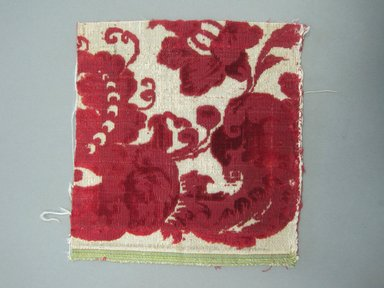 <em>Textile Fragment</em>, 18th century. Silk velvet, 7 1/16 x 7 3/8 in. (18.0 x 18.8 cm). Brooklyn Museum, Purchased by Special Subscription, 11.110 (Photo: Brooklyn Museum, CUR.11.110.jpg)