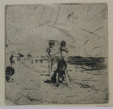 Robert Frederick Blum (American, 1857-1903). <em>Souvenir of Coney Island</em>, 1886. Etching on cream-colored Japan paper, sheet: 13 3/4 x 10 5/16 in. (34.9 x 26.2 cm). Brooklyn Museum, Gift of the Cincinnati Museum Association, 11.575 (Photo: Brooklyn Museum, CUR.11.575.jpg)