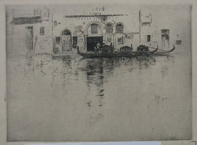 Robert Frederick Blum (American, 1857-1903). <em>Gondola and Venetian Palace</em>, n.d. Etching and drypoint oncream-colored wove paper, sheet: 9 7/16 x 12 1/2 in. (24 x 31.8 cm). Brooklyn Museum, Gift of the Cincinnati Museum Association, 11.581 (Photo: Brooklyn Museum, CUR.11.581.jpg)