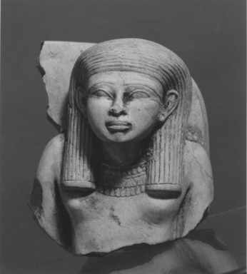 <em>Fragmentary Statuette of a Woman</em>. Limestone Brooklyn Museum, Museum Collection Fund, 11.663. Creative Commons-BY (Photo: , CUR.11.663_NegA_print_bw.jpg)
