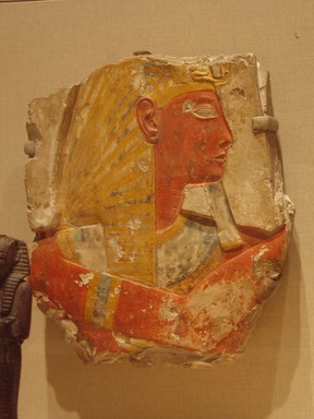 <em>Ramses II</em>, ca. 1279-1213 B.C.E. Limestone, pigment, 15 × 3 × 17 in., 48.5 lb. (38.1 × 7.6 × 43.2 cm, 22kg). Brooklyn Museum, Museum Collection Fund, 11.670. Creative Commons-BY (Photo: Brooklyn Museum, CUR.11.670_wwg8.jpg)