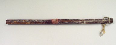 Osage. <em>Whistle</em>, late 19th-early 20th century. Cane, plant reeds, hide, length: 21 1/4 in.  (54.0 cm). Brooklyn Museum, Museum Expedition 1911, Museum Collection Fund, 11.694.8988. Creative Commons-BY (Photo: Brooklyn Museum, CUR.11.694.8988.jpg)