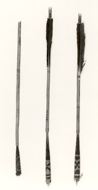 Ainu. <em>Stick</em>. Wood, 1/2 x 17 11/16 in. (1.3 x 45 cm). Brooklyn Museum, Gift of Herman Stutzer, 12.211. Creative Commons-BY (Photo: Brooklyn Museum, CUR.12.211_bw.jpg)