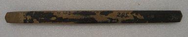 Ainu. <em>Long Straight Prayer Stick</em>. Wood, 1 x 14 5/16 in. (2.6 x 36.3 cm). Brooklyn Museum, Gift of Herman Stutzer, 12.253. Creative Commons-BY (Photo: Brooklyn Museum, CUR.12.253_bottom.jpg)